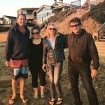 Ben, Katie, Kelli, Randy - Sunset in Cayucos